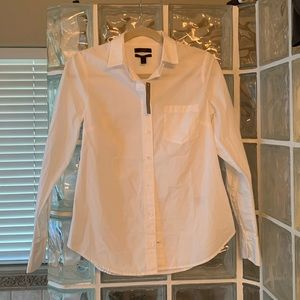 J. Crew Perfect Fit White Button Up Sz 4 NWT